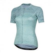 Pearl Izumi elite pursuit graphic maillot de cyclisme manches courtes femme glacier teal kimono bleu