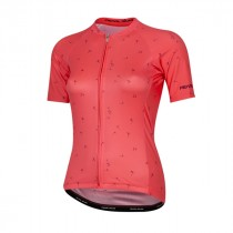Pearl Izumi elite pursuit graphic maillot de cyclisme manches courtes femme atomic rouge
