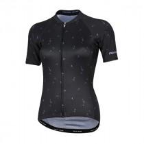 Pearl Izumi elite pursuit graphic maillot de cyclisme manches courtes femme noir lavender wish