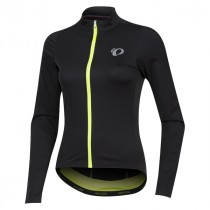 Pearl Izumi p.r.o. pursuit wind maillot de cyclisme à manches longues femme noir screaming jaune