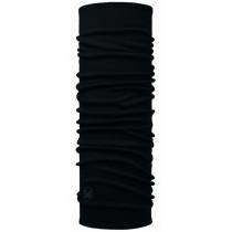 Buff Midweight Merino Wool Nekwarmer Solid Black