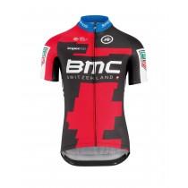 Assos BMC maillot de cyclisme manches courtes rouge noir 2018