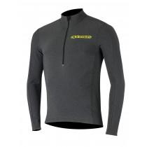 Alpinestars booter warm maillot de cyclisme manches longues noir acid jaune