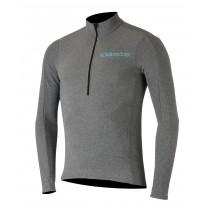 Alpinestars booter warm maillot de cyclisme manches longues melange gris atoll bleu