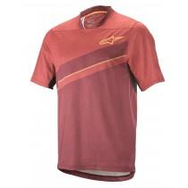 Alpinestars alps 8.0 maillot de cyclisme à manches courtes burgundy maroon rouge