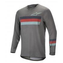 Alpinestars alps 6.0 maillot de cyclisme à manches longues melange mid gris rouge stillwater