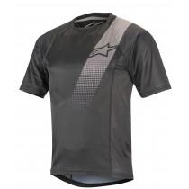 Alpinestars trailstar v2 maillot de cyclisme à manches courtes noir gris