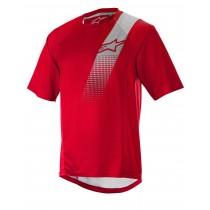 Alpinestars trailstar v2 maillot de cyclisme à manches courtes rouge ochre