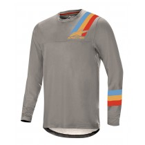 Alpinestars alps 4.0 maillot de cyclisme à manches longues melange gris bleu rouge