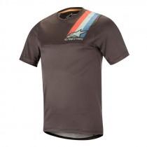 Alpinestars alps 4.0 maillot de cyclisme à manches courtes melange gris foncé teal rouge