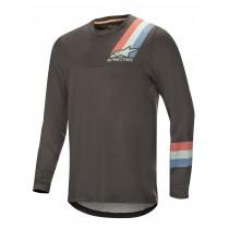 Alpinestars alps 4.0 maillot de cyclisme à manches longues melange gris foncé teal rouge