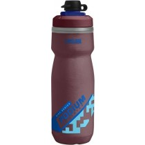 Camelbak podium chill dirt series geïsoleerde bidon 600ml burgundy rood blauw