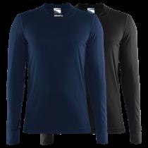 Craft active vêtement manches longues noir et blaze bleu 2-pack
