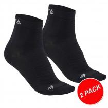 Craft cool mid chaussettes de cyclisme noir (2-pack)
