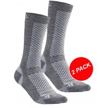 Craft warm mid chaussettes 2-pack gris