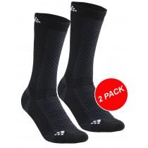 Craft warm mid chaussettes 2-pack noir blanc