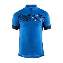 Craft reel maillot de cyclisme manches courtes haven blaze bleu