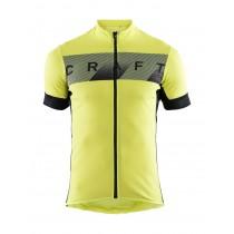 Craft reel maillot de cyclisme manches courtes lime jaune noir