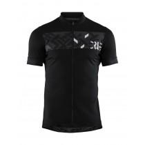 Craft reel maillot de cyclisme manches courtes noir crest