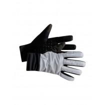 Craft siberian glow gants de cyclisme argent noir