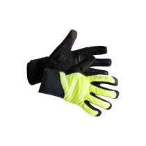 Craft shield 2.0 gants de cyclisme flumino jaune noir