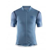 Craft hale glow maillot de cyclisme manches courtes shore tide bleu