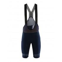Craft hale glow cuissard de cyclisme courtes à bretelles blaze bleu noir