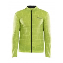 Craft ideal thermal maillot de cyclisme à manches longues cuts flumino jaune