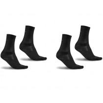 Craft wool liner chaussettes de cyclisme noir 2-pack