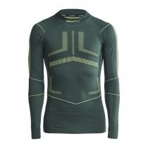 Craft active intensity cn sous-vêtement à manches longues pine acid vert
