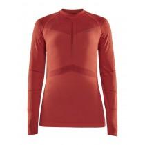 Craft active intensity cn sous-vêtement à manches longues femme beam rhubarb rouge