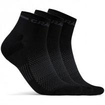 Craft Core Dry Mid Fietssok 3-Pack Zwart