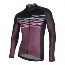 Nalini Merak maillot de cyclisme manches longues bordeaux noir