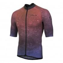 Nalini mortirolo maillot de cyclisme manches courtes rouge bleu
