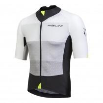 Nalini stelvio maillot de cyclisme manches courtes blanc gris noir