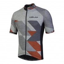 Nalini rapidità maillot de cyclisme manches courtes gris melange rouge