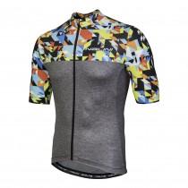 Nalini centenario maillot de cyclisme manches courtes gris color block