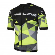 Nalini discesa maillot de cyclisme manches courtes noir fluo jaune