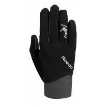 Roeckl prag gants de cyclisme noir gris