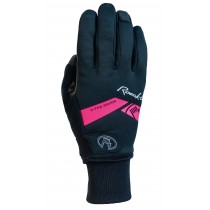 Roeckl villach gants de cyclisme noir rose