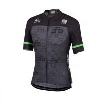 Sportful Sagan logo bodyfit team maillot de cyclisme à manches courtes gris vert