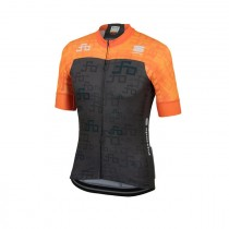 Sportful Sagan logo bodyfit team maillot de cyclisme à manches courtes orange sdr vert