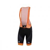 Sportful Sagan logo bodyfit classic cuissard de cyclisme courtes à bretelles orange sdr noir