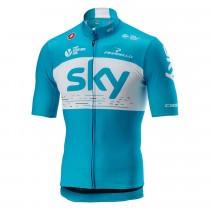 Castelli Sky podio maillot de cyclisme manches courtes sky bleu