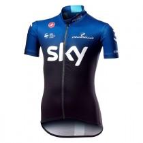 Castelli Team Sky maillot de cyclisme manches courtes enfants zwart ocean foncé