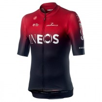 Castelli Team Ineos squadra maillot de cyclisme à manches courtes rouge foncé 2019