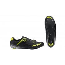 Northwave core plus chaussures route noir fluo jaune