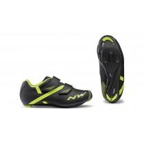 Northwave torpedo 2 junior chaussures race noir fluo jaune