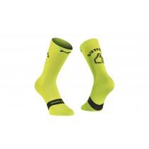Northwave sunday monday chaussettes de cyclisme lime fluo
