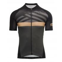 Agu maze maillot de cyclisme manches courtes noir